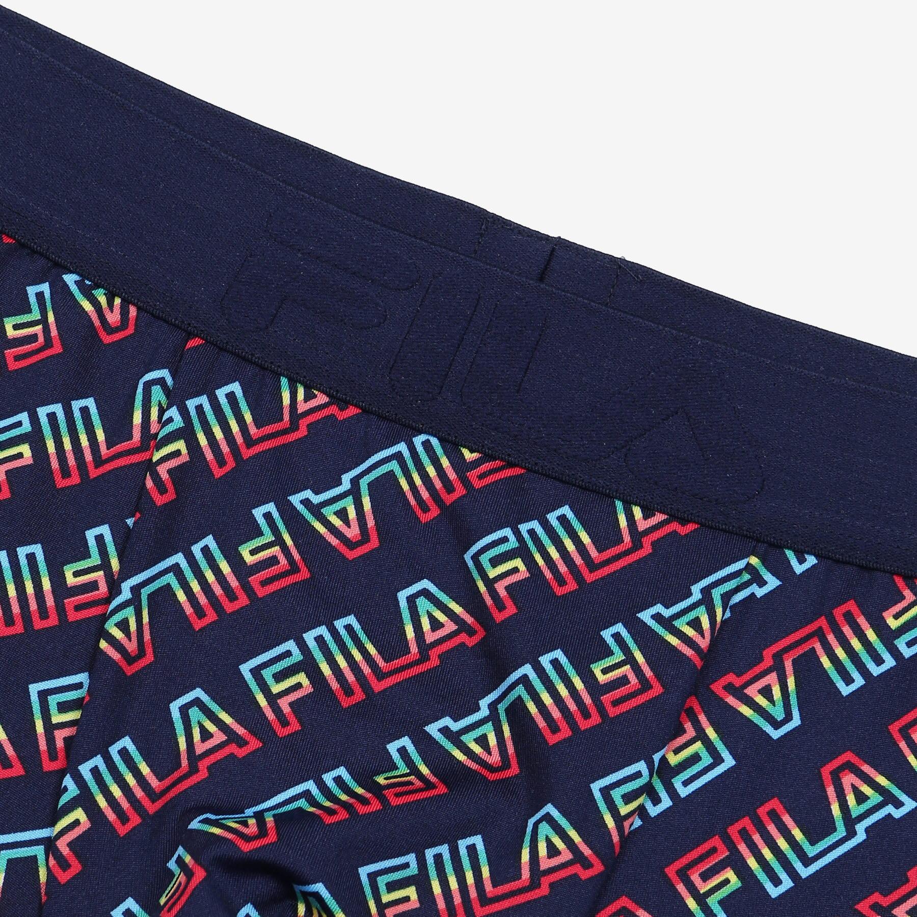 휠라언더웨어(FILA UNDERWEAR) [U] 레인보우 남성드로즈 패턴네이비(FI4DRC1404MINA)