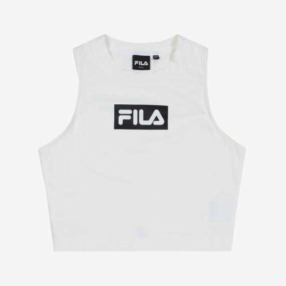 휠라(FILA) 슬림핏모던 FILA 크롭탑(FS2ITB1154FOWH)