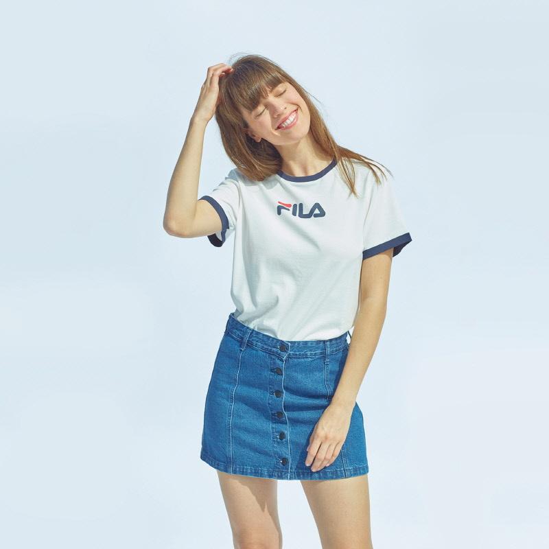 미니 리니어 반팔 티셔츠 상세 이미지 1