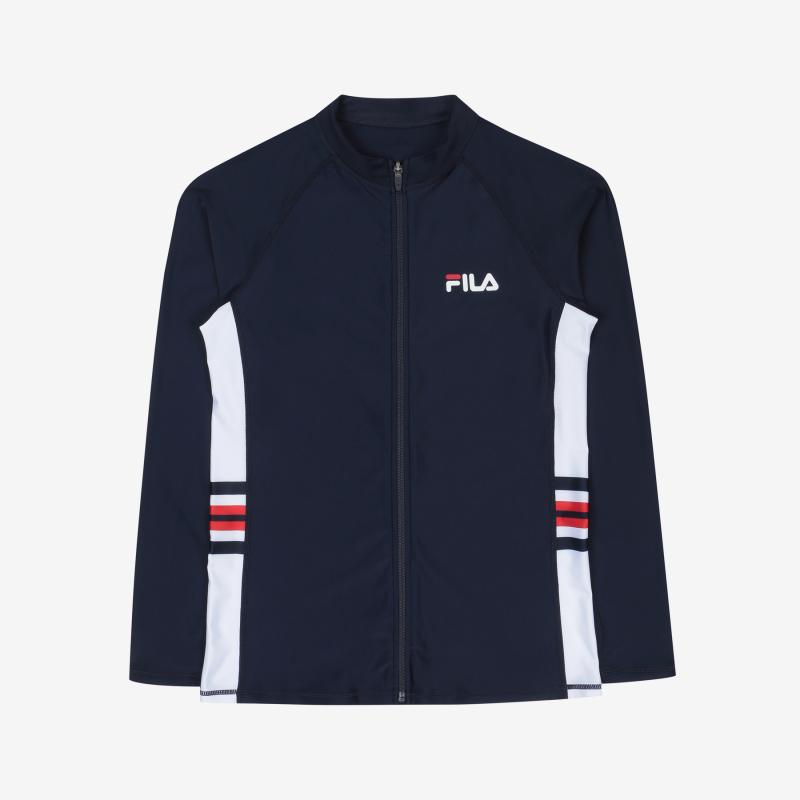 휠라(FILA) 스몰리니어 집업 래쉬가드(FS2RTC2A02MINA)