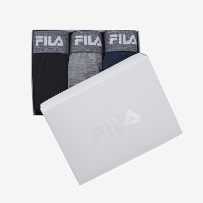 휠라언더웨어(FILA UNDERWEAR) [U]남성 드로즈 3종 SET 멜란지밴드(FI4DRC6410MBLK)