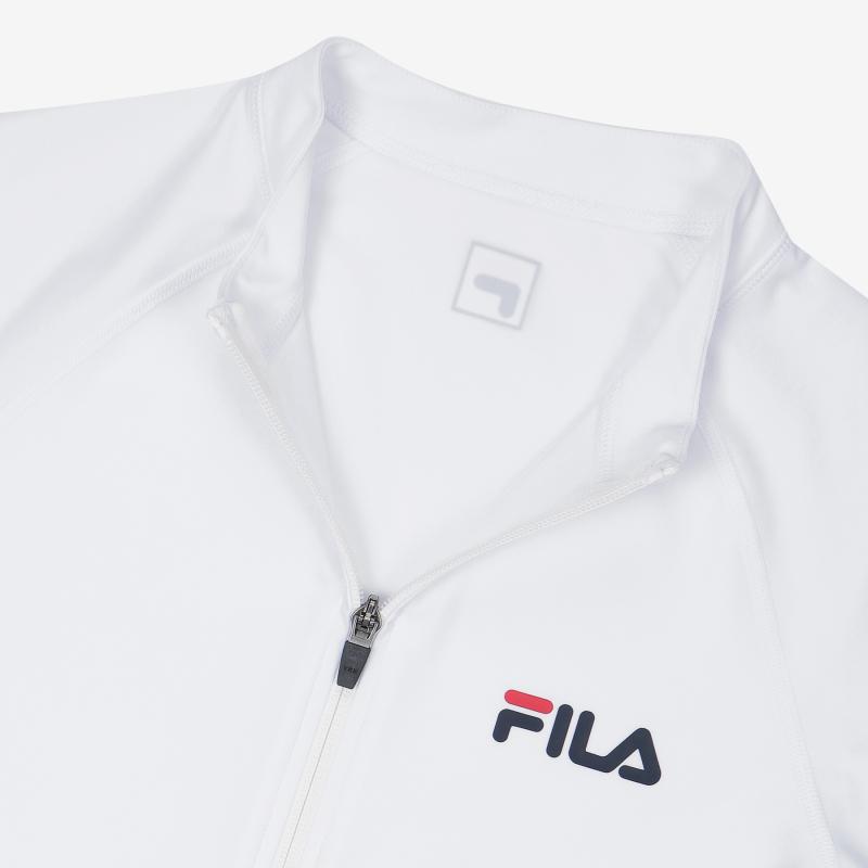 휠라(FILA) 스몰리니어 집업 래쉬가드(FS2RTC2A02MOWH)