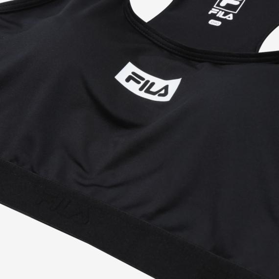 휠라(FILA) NEWBLACK 여성 스포츠브라탑 블랙(FI4HTC1460FBLK)