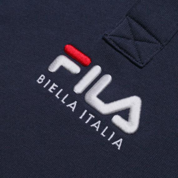 휠라(FILA) 루즈핏 BIELLA ITALIA 로고 폴로 반팔티셔츠(FS2TSB2103XINA)