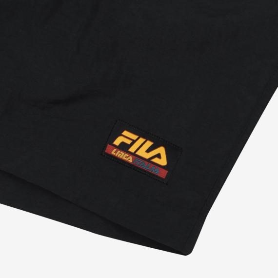 휠라(FILA) [레귤러핏] FILA LINEA ITALIA 로고 반바지(FS2TRB2104XBLK)