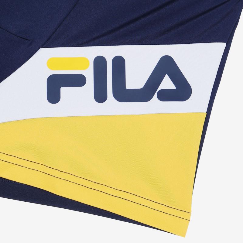 휠라언더웨어(FILA UNDERWEAR) 사선블럭 남성드로즈 네이비(FI4DRC2406MNAY)