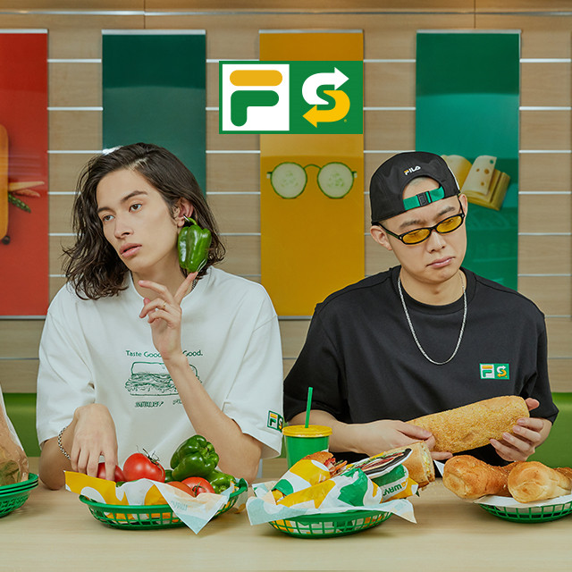 FILA X SUBWAY<br>TASTE GOOD. FEEL GOOD