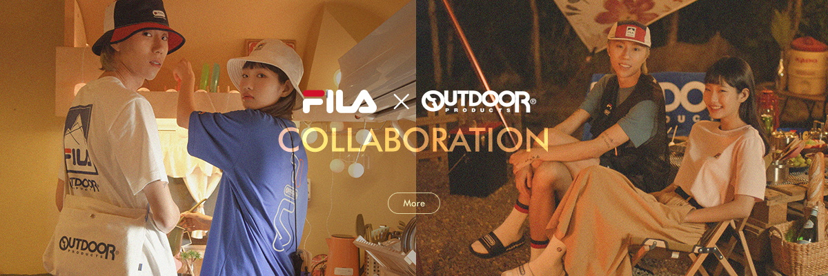 FILA X OUTDOOR PRODUCTS<br>COLLABORATION
