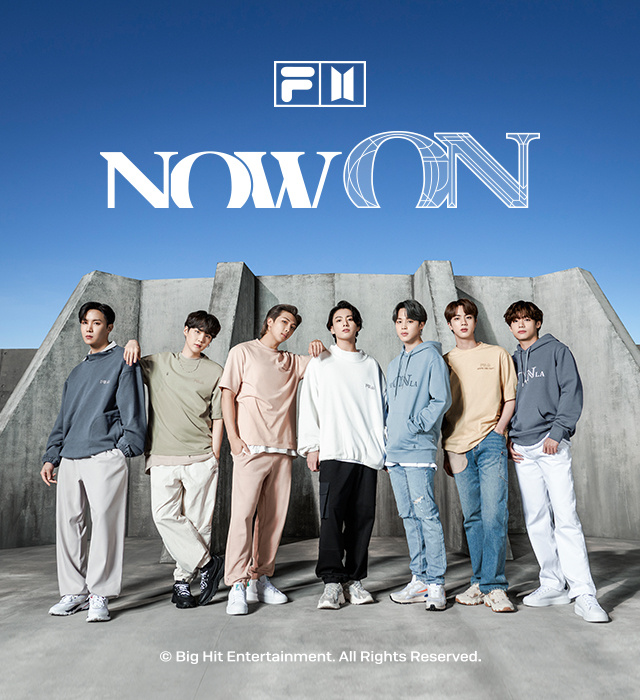 FILA X BTS<br>NOW ON COLLECTION
