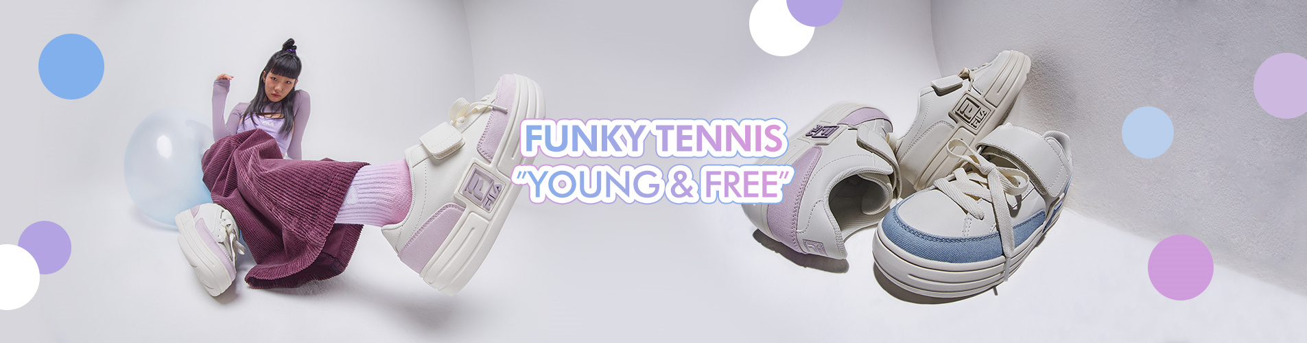 "FUNKY TENNIS NEW COLOR<br>""YOUNG & FREE"""