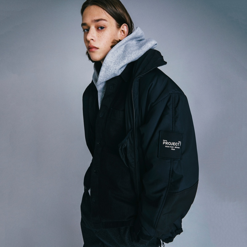 <Project 7> Detailed image of short padded jacket 1