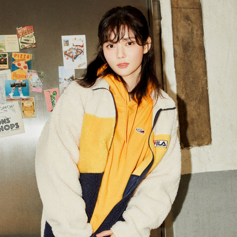 Palette boa fleece jacket detailed image 1