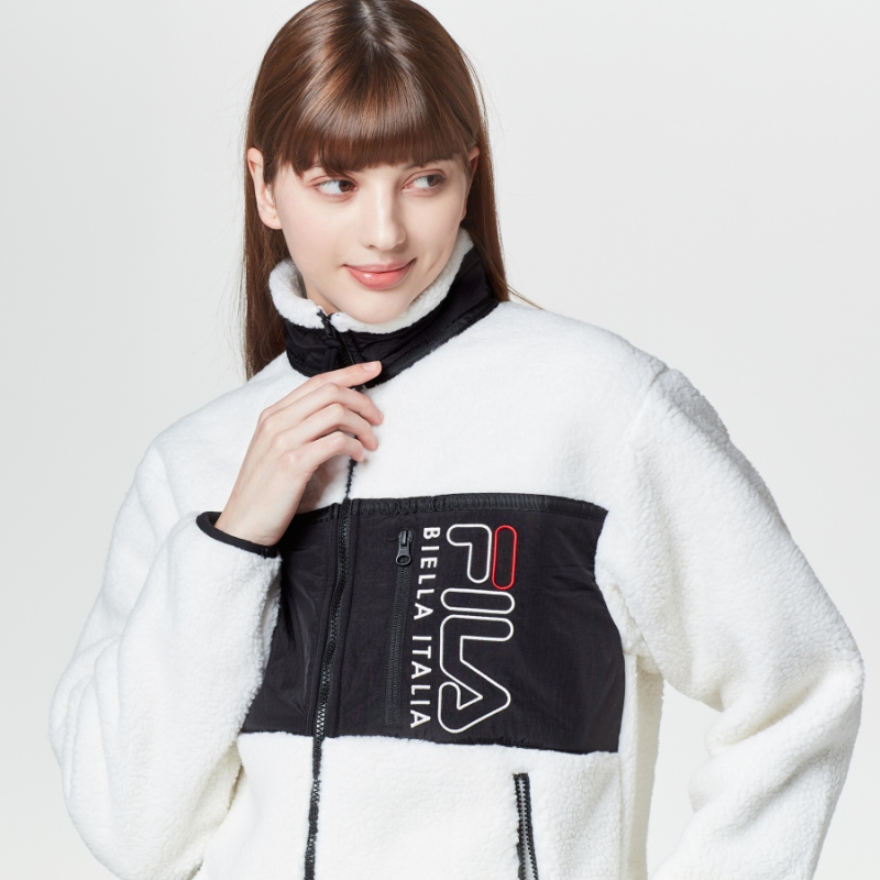 Popcorn Boa Fleece Jacket Detailed Image 1