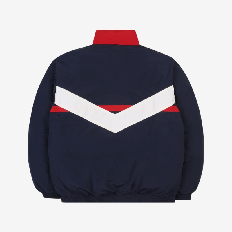 V color down jacket detailed image 2