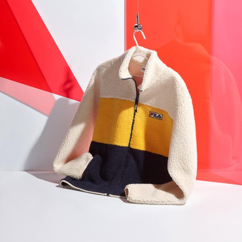 Palette boa fleece jacket detail image 2
