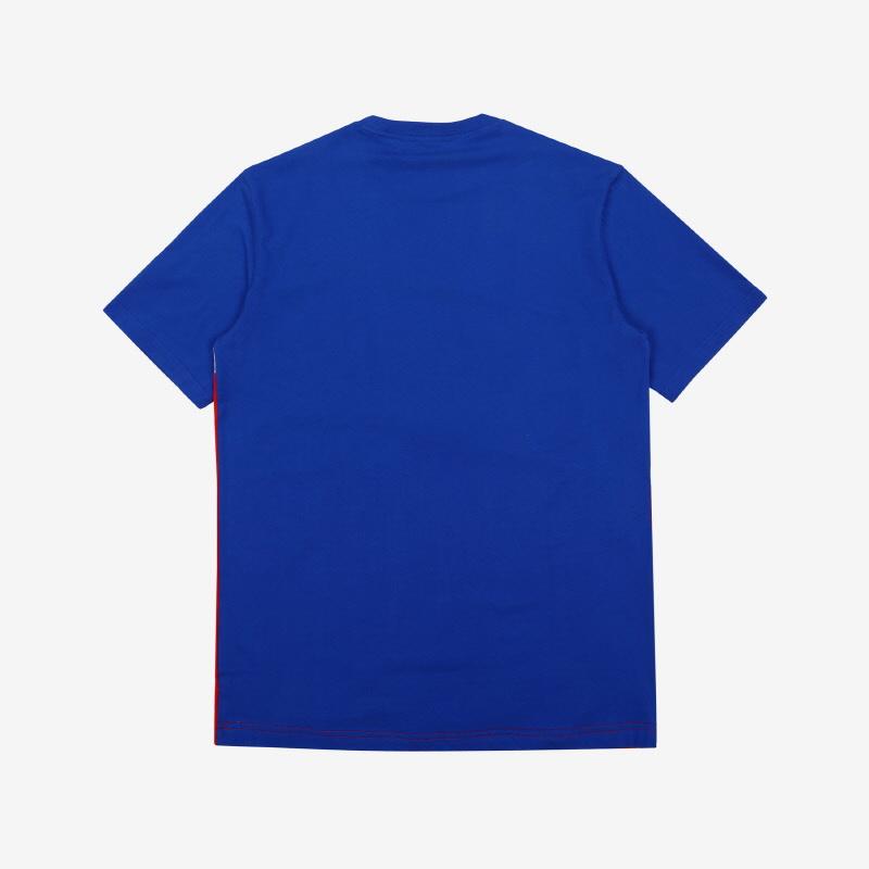 사선 컬러 배색 티셔츠 상세 이미지