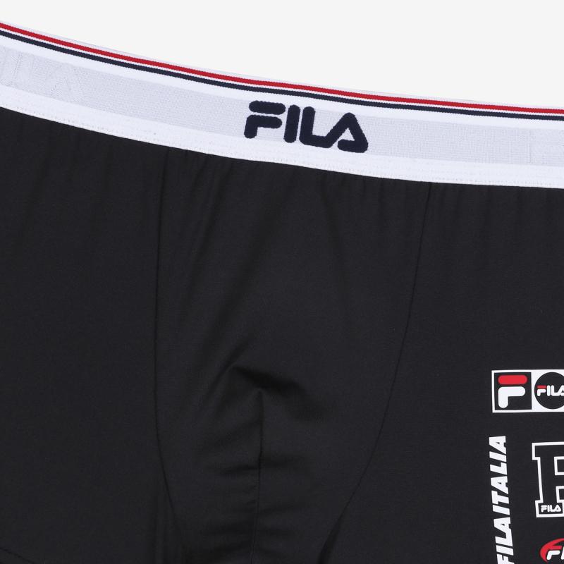 휠라언더웨어(FILA UNDERWEAR) 아웃핏 로고포인트 스페셜 남성드로즈(FI4DRD1408MBLK)