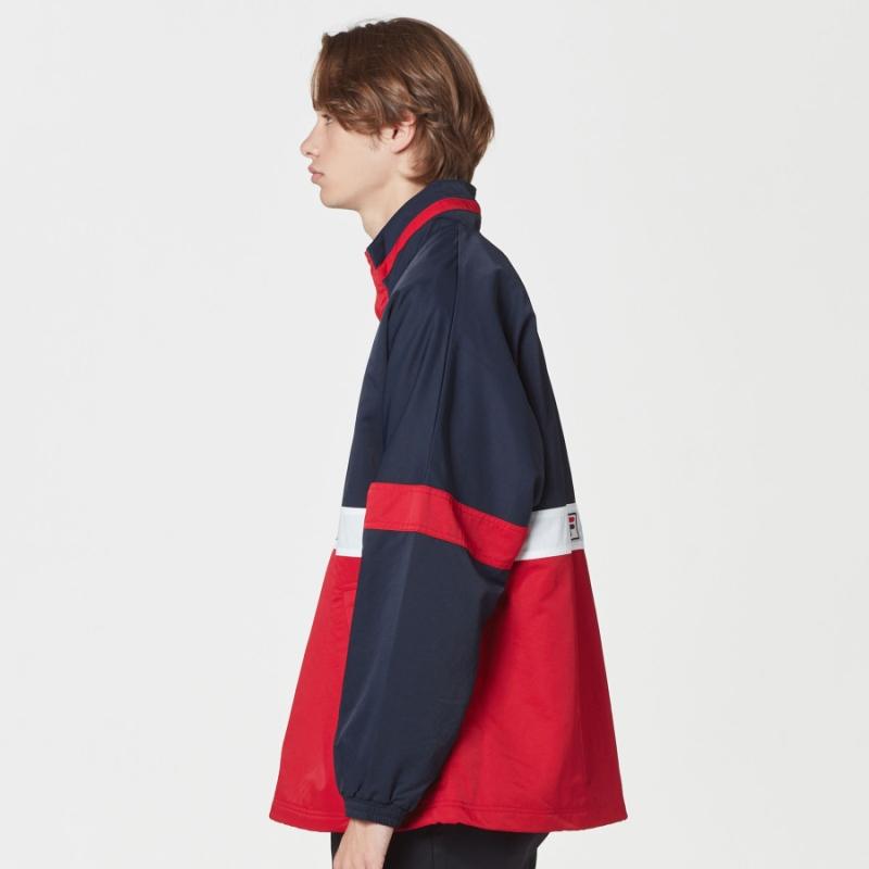 Color blocking anorak jacket detailed image 3