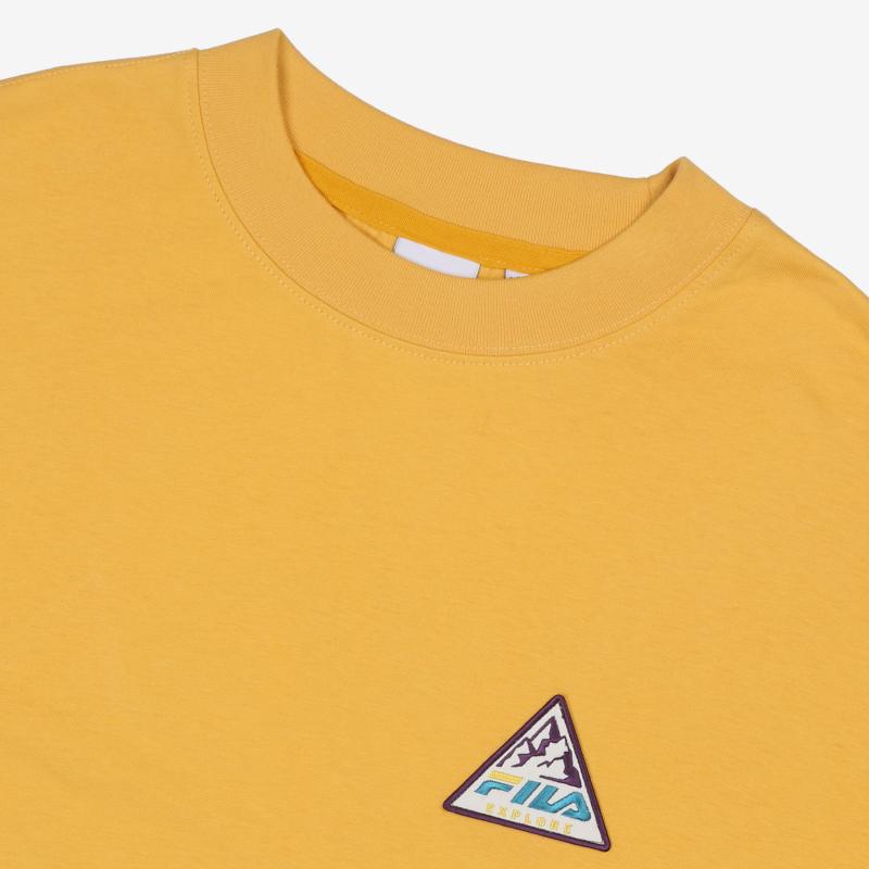 EXPLORE Long Sleeve Round T-Shirt Detailed Image 3