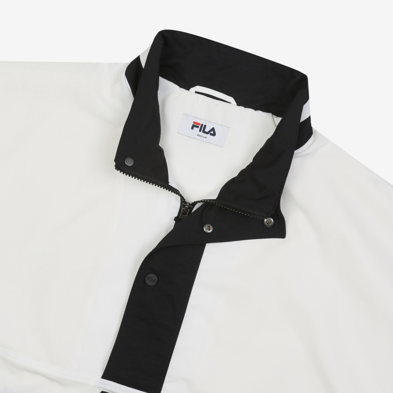 Color blocking anorak jacket detailed image 4