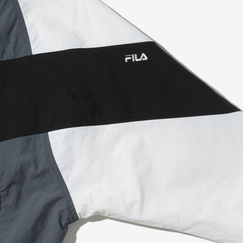 휠라(FILA) 브이 배색 경량 자켓(FE2JKD5101XGRY)