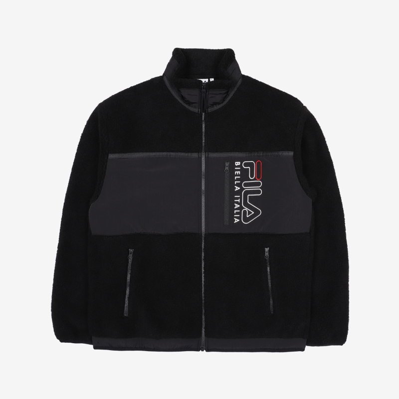 Popcorn Boa Fleece Jacket Detailed Image 5