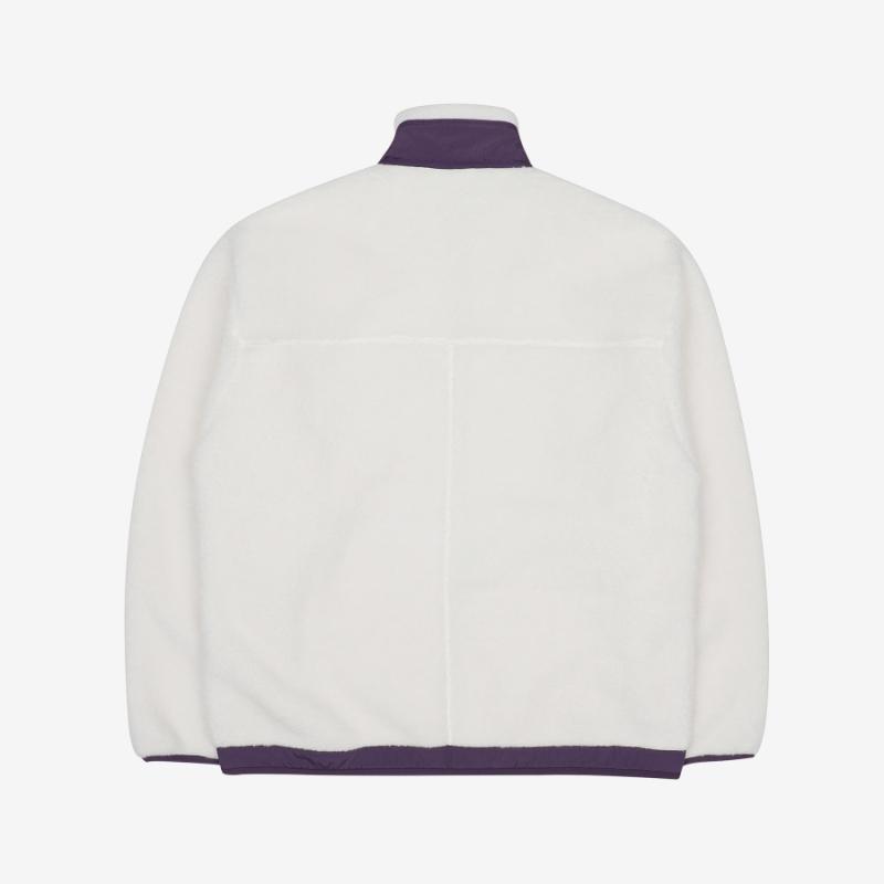 Popcorn Boa Fleece Jacket Detailed Image 5