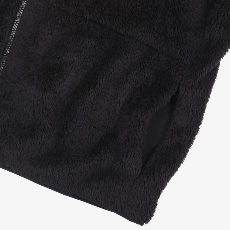 <Project 7> Detailed image of the woven mix fleece jacket 6