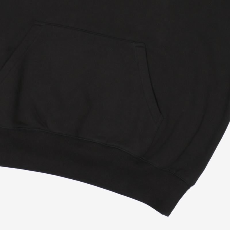 Overfit Small Linear Raised Hoodie Detailed Image 6