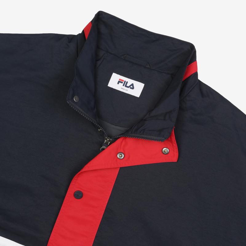 Color blocking anorak jacket detailed image 7